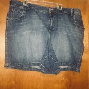 Lane Bryant denim jean shorts plus size 24